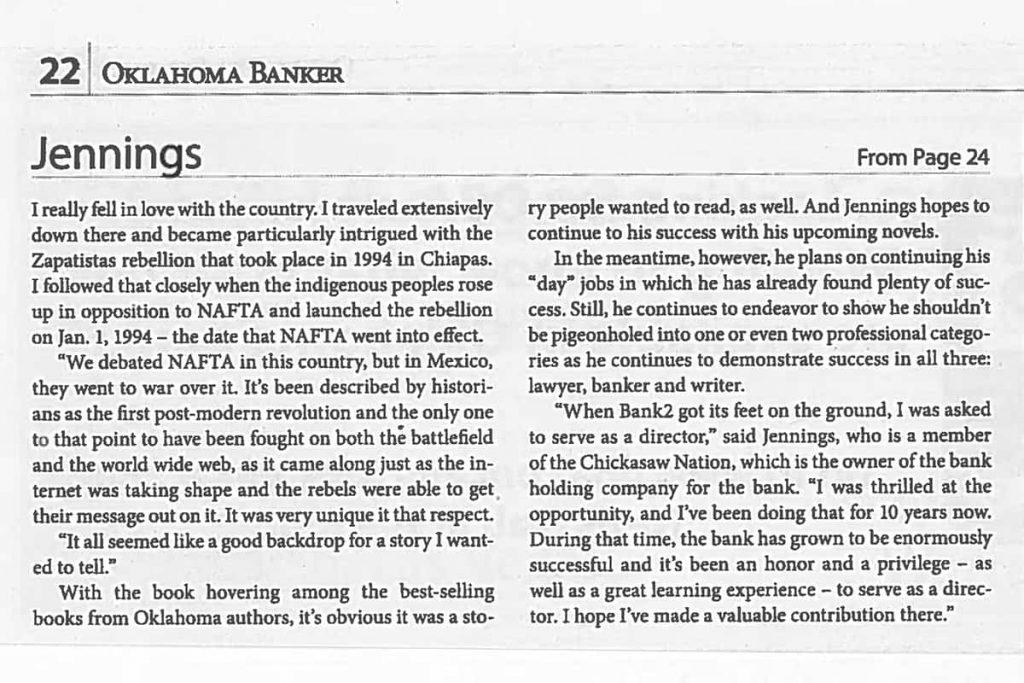 Oklahoma Banker MIRADOR Review Page 2